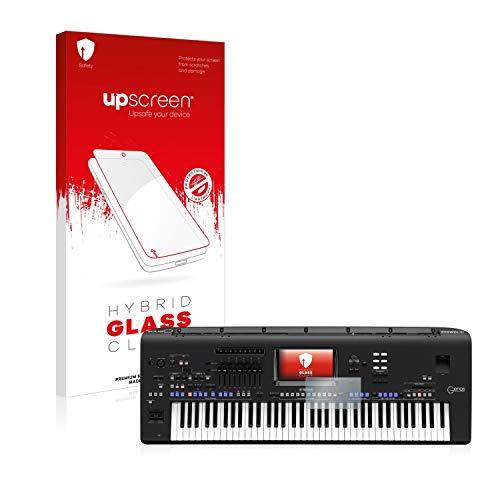 upscreen Pellicola Vetro Temperato Compatibile con Yamaha Genos Protezione Schermo Hybrid Glass - 9H Durezza