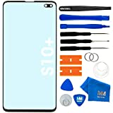 MMOBIEL Front Glass Repair kit Compatible with Samsung Galaxy S10 Plus G975F/DS / G975U / G975U / G975W 6.4 inch (Black)