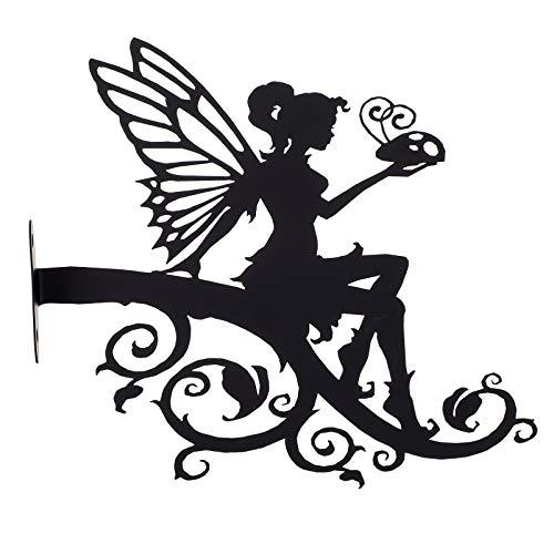 YARNOW Gartenstecker Rost Stecker Fee Elfen Figur Metall Silhouette Deko Garten Dekofigur Edelrost Gartendeko Figuren Eisen Gartenfigur Garten Skulpturen Statue