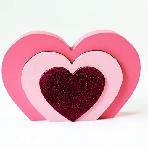 JSANSUI Classroom decoration Home Angel Heart Blocks Decoration Children Room Clothing Store Decoration Photography Props (Color : Rose Red Heart)