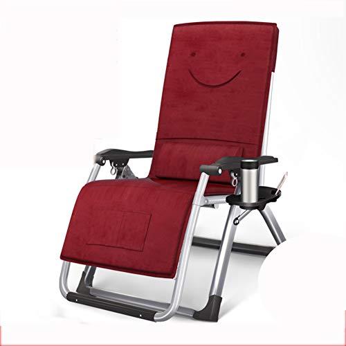 VIVOCC Réglable Fauteuil Zero Gravity Chaise, Pliant Plein air Chaises Longues Chaise Longue Camping canapé-lit avec Porte-gobelet Plage Patio -D 180x65x40cm(71x26x16inch)