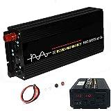 Inversor de energia para carro 4000W DC 12V a 110V / 220V AC com duas portas USB 3.4A, carregador de tomada para adaptador de plugue de carro para laptop, telefone, câmera