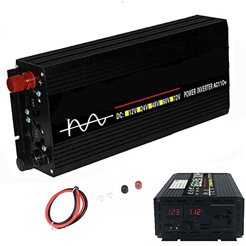 Inversor de corriente para automóvil de 4000W DC 12V a 110V / 220V Convertidor de CA con puertos USB dobles 3.4A, Adaptador de enchufe para automóvil Cargador de salida para computadora portátil