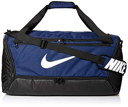 Nike NK BRSLA M DUFF - 9.0 (60L) Gym Bag, Midnight Navy/Black/(White), MISC