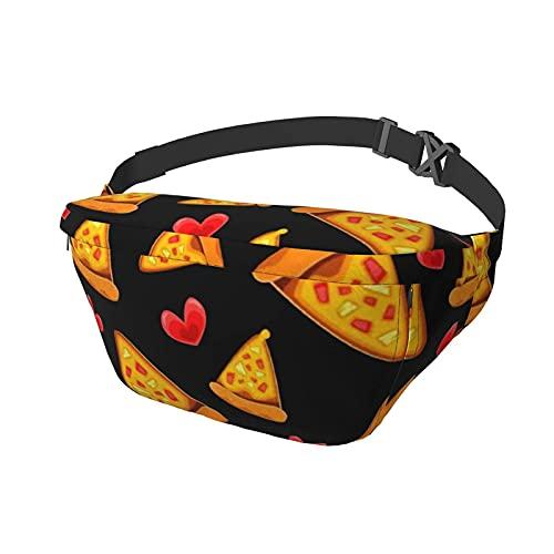 Riñonera Like To Eat Pizza Sling Bag Riñonera Crossbody Mochila de Hombro Casual Bolsas de Pecho Mochila de Cintura