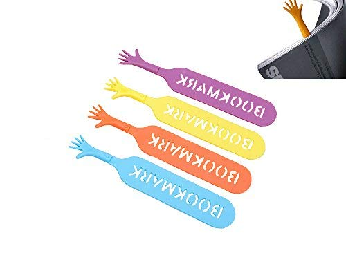 Stonges 4 Stück lustig Hilfe mich Lesezeichen Notizblock Memo Schreibwaren Buch Mark Neuheit lustige Geschenk, zufällige Farbe
