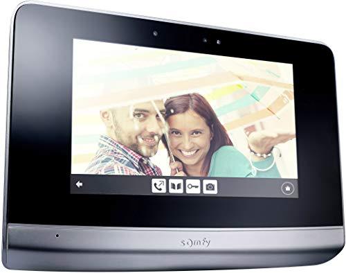 Somfy 2401458 - Monitor V500, Videoportero 2 hilos, Pantalla táctil de 7 pulgadas, con captura y almacenamiento de imagen, Negro
