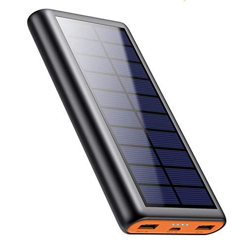 モバイルバッテリー ソーラー充電器 </br></noscript>大容量 26800mAh