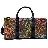 Bolsa de deporte de gimnasio Potable Sport Duffel Bag de color personalizado hawaiano tropical verano flores bolso de yoga bolsa de hombro bolsa de viaje bolsa de gran capacidad para hombres mujeres