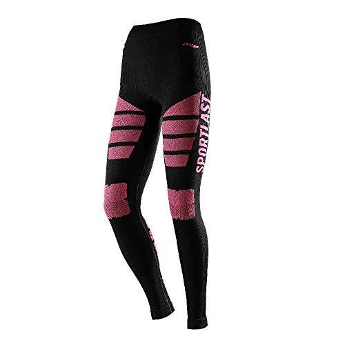 Sportlast mc105ncm Leggings, Donna, Nero/Corallo, M/L