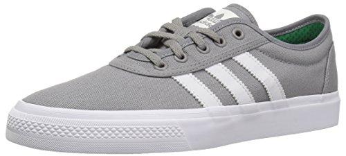 adidas Originals Unisex-Adult adi-Ease Skate Shoe, Solid Grey/Crystal White/White, 4.5 M US
