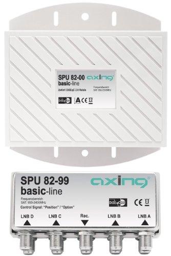 Axing SPU 82-00 DiSEqC 2.0 - Conmutador con 4 LNB dobles en...