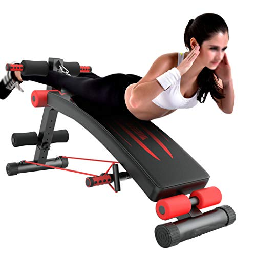 Cymbidy UK - Bauchtrainer Multifunktionale Sit-Up-Bank Ist Perfekt - Trainingsbank - FitnessgeräTe Verdickendes Stahlrohr Maximale Belastung 551 £ Gym-QualitäT Multifunktionales Design Schwarz + Rot