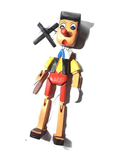Recibirás 1 marioneta con hilo, 50 cm de altura, marionetas para tiburones de madera artesanales, marioneta, belén y llavero de regalo