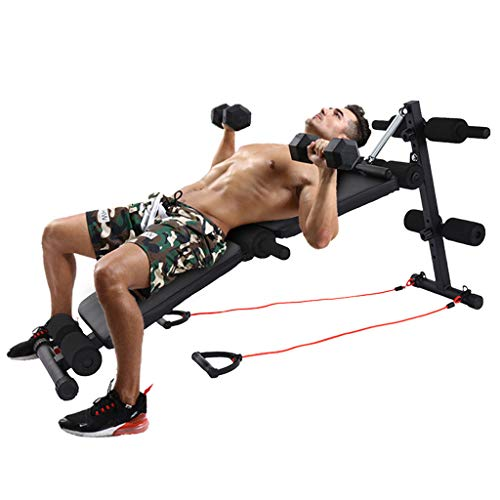 Tengma Adjustable Ab Bench Multi-Workout Hyper Back Extension Abdominal Sit Up Bench Weight Bench with Decline/Sit Up for Commercial and Home Use