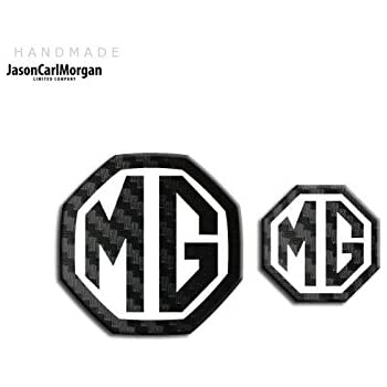 70mm JasonCarlMorgan MG TF LE500 Style Blue and Silver Front /& Rear Insert Badges