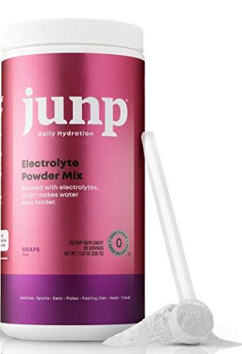 JUNP Hydration Electrolyte Powder, Electrolytes Drink Mix Supplement, Zero Calories Sugar and Carbs, Kosher, Grape Flavor, 90 Servings
