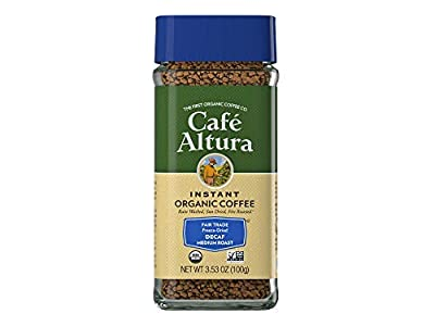 Cafe Altura Organic Fair Trade Decaf Instant Coffee, 3.53 oz (Pack Of 2)