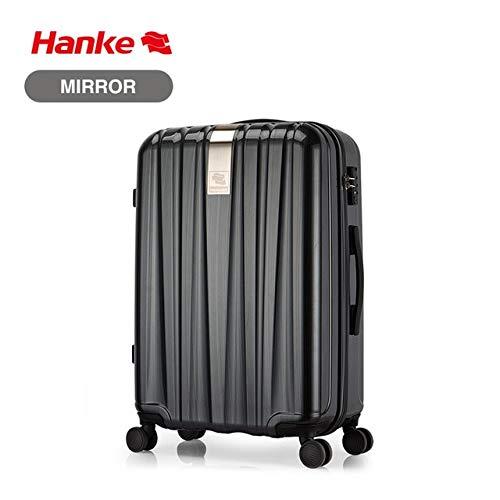 Mdsfe Best Spinner Luggage Suitcase PC Trolley Case Travel Bag Rolling Wheel Carry-On Boarding Men Women Luggage Trip Journey H80002 - Silk black, a1,16