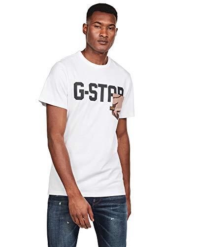 Camiseta G-Star Pocket Blanco para Hombre