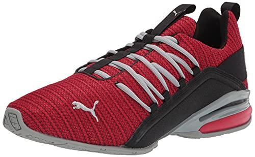 PUMA Men's Axelion Ridge Running Shoe, Ribbon Red Black-Quarry, 10