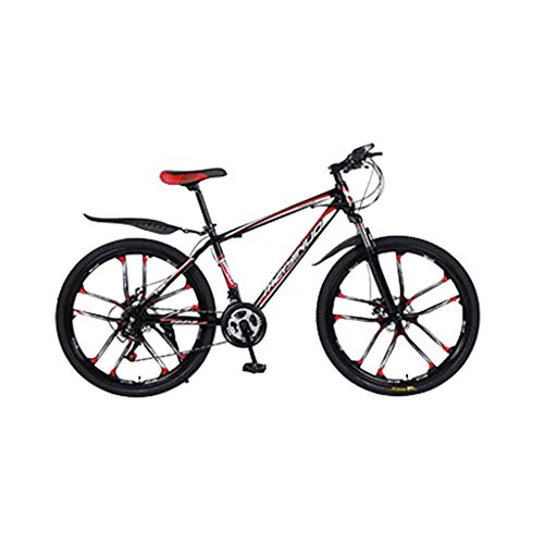 Mountainbikes 26 Zoll MTB Fahrrad mit 21 Gang Kohlenstoffreicher Stahl Strong Fully, geignet ab Scheibenbremse vorne und hinten, Vollfederung, Jungen-Herren Fahrrad, mit Vorder- und Hinterschutzblech