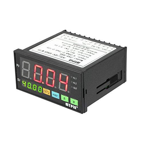 KKmoon Multifunktionale Intelligente Digitalsensor Meter, Universal Sensor Messgerät LED Anzeige 0-75mV / 4-20mA / 0-10V 2 Alarm Relaisausgang mit 2 Bracket
