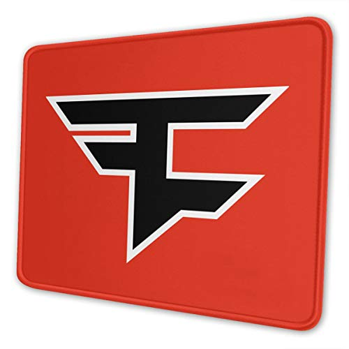 Gaming Faze Clan Logo Mouse Pad Extended Non-Slip Mouse Mat Rubber Durable Stitched Edges Mousepad for Keyboard Laptops 10 X 12 Inch