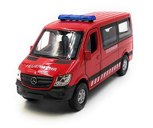 Onlineworld2013 Modellauto Feuerwehr Auto Sprinter Rot Auto Maßstab 1:34-39 (lizensiert)