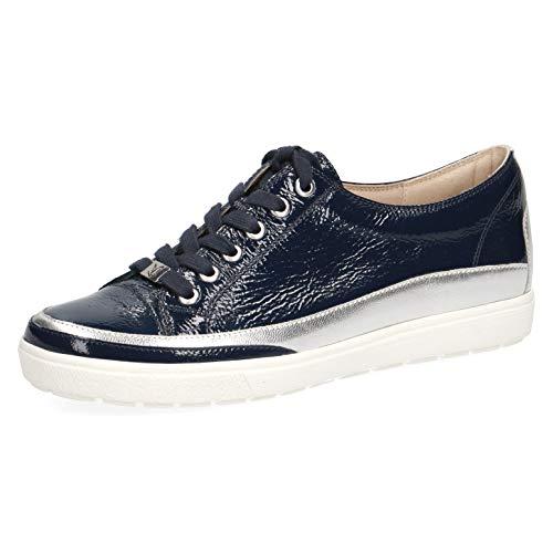 CAPRICE 23654-22 - Zapatillas deportivas para mujer, con cordones, zapatillas de calle, zapatillas deportivas, elegantes, casuales, Azul (Navy Croco), 37.5 EU