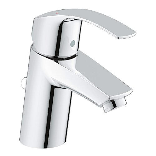 Grohe 3264200A Eurosmart New Single-Handle Single-Hole Bathroom Faucet, 1.2 GPM, Starlight Chrome