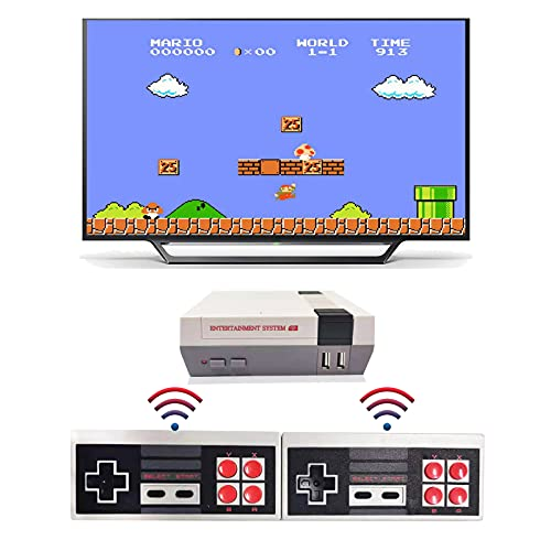 Jueapu Retro Game Console NES Classic Edition System Plug and Play TV Games with Wireless Controller, NES Classic Game Console Built in 620 Classic Video Games Emulator for Kids and Adults AV Output