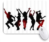 NINEHASA 可愛いマウスパッド フィギュアテーマ人が自由に踊るシルエットをパーソナライズ ノンスリップゴムバッキングコンピューターマウスパッドノートブックマウスマット
