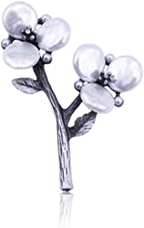 N/W Women Brooches Plum Flower Brooch White Simulated Pearl Brooch Pin Jewelry Antique Jewelry