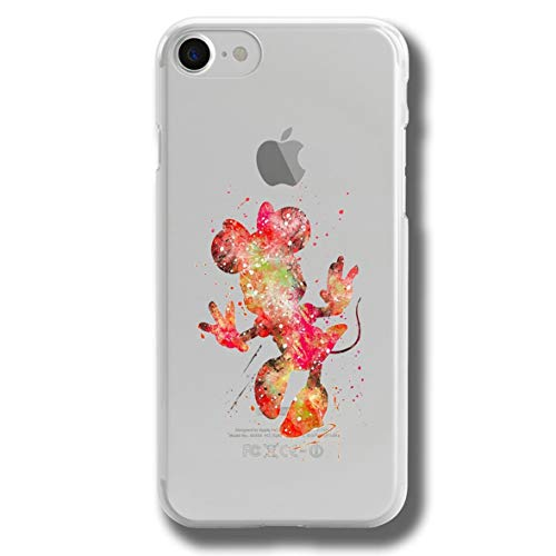 RENGMIAN Funda iPhone 6 Plus,McKey Mouse Mnne Mouse Scratch-Resistant Transparent Soft TPU Case Pattern-256 Resistant Slim Fit iPhone 6 Plus and iPhone 6S Plus