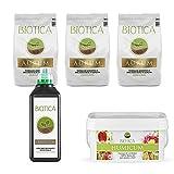 BIOTICA Box - Kit para jardinería, Contiene Suelo Natural, Fertilizante orgánico Universal, Humus de lombriz de Tierra 100% Natural - Disponible en Varios tamaños (Medio)