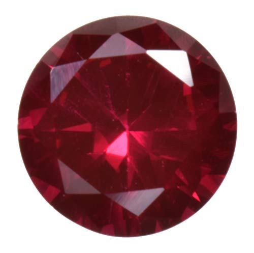 uGems Deep Red Synthetic Ruby Round Unset Loose Gem Corundum 6mm (1)