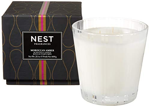 NEST Fragrances NEST03MA003 3-Wick Candle- Moroccan Amber , 21.2 oz