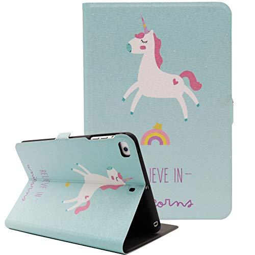 iPad Mini Case, iPad Mini 4 Case, iPad Mini 2/3 Case, iPad Mini 5 Case, Alugs Ultra Slim Smart Stand Pattern Folio Cover with Auto Sleep/Wake for iPad Mini 1/2/3/4/5 7.9\' Tablet, Unicorn