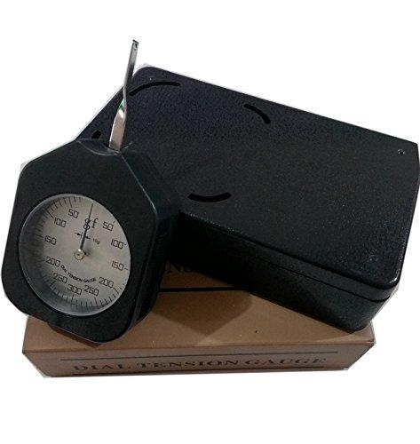 ATG-300-1 Analog Unit G Dial Tension meter tester Gauge Gram Force Meter Single Pointer 300G Pressure Pull Tester Gage with Analog tension meter tension tester, Single needle Gram gauge Black