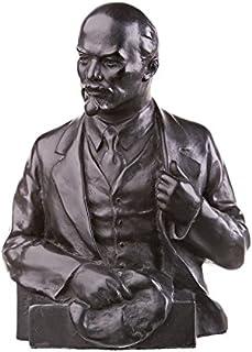 danila-souvenirs Russian Soviet USSR Leader Leonid Brezhnev Stone Bust Statue Sculpture 6.3 Black