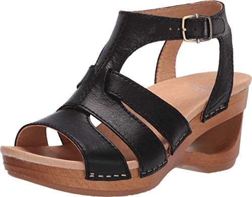 Dansko Women's Trudy Black Wedge Sandal 9.5-10 M US