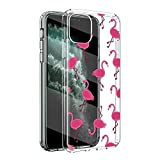 ZhuoFan Funda para WIKO View 3 Pro, Cárcasa Silicona Transparente con Dibujos Diseño Suave TPU Antigolpes de Protector Piel Case Cover Fundas Movil para WIKO View 3 Pro, Flamingos