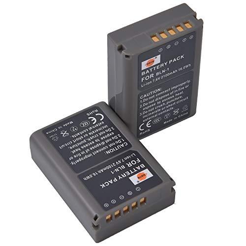DSTE 2-Pieza Repuesto Batería para OLYMPUS BLN-1 BLN1 BCN-1 E-M1 E-M5 OM-D PEN E-P5 Mark II