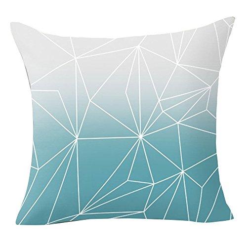 Pu Ran Taie d'oreiller/housse de coussin avec fleurs et motifs géométriques pour canapé, maison, couvre-lit, décoration , Polyester, 23 Simplicity, Taille unique