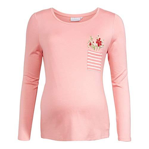 2HEARTS T-Shirt de Grossesse et d'allaitement T-Shirt de Grossesse T-Shirt de Grossesse, Strawberry Ice