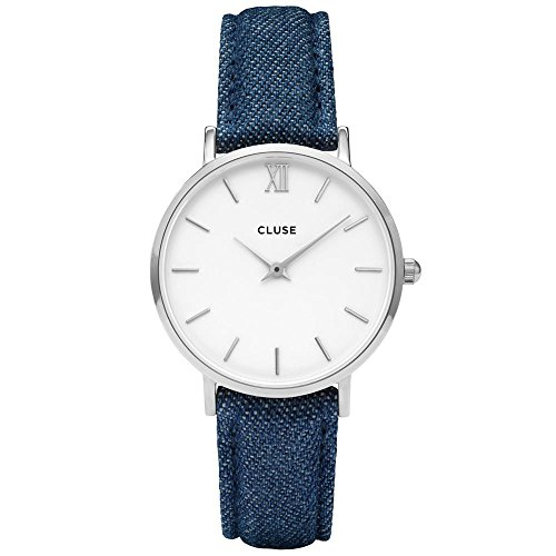 Cluse Unisex Erwachsene Digital Quarz Uhr mit Leder Armband CL30030