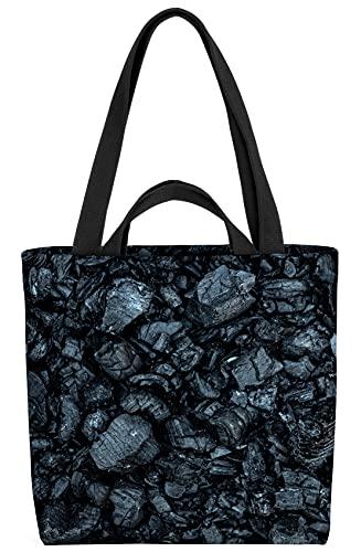 VOID Kohle Grillen Textur Tasche 33x33x14cm,15l Einkaufs-Beutel Shopper Einkaufs-Tasche Bag