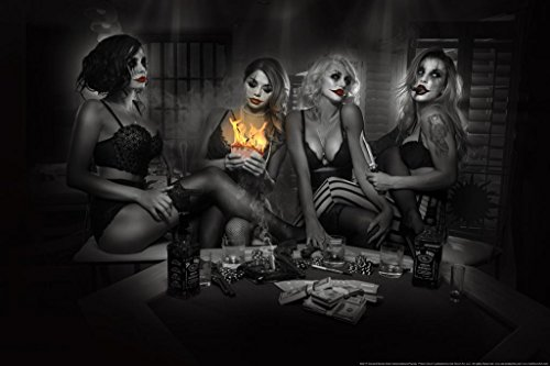 Poker Clown by Daveed Benito Cool Wall Decor Art Print Poster 24x36
