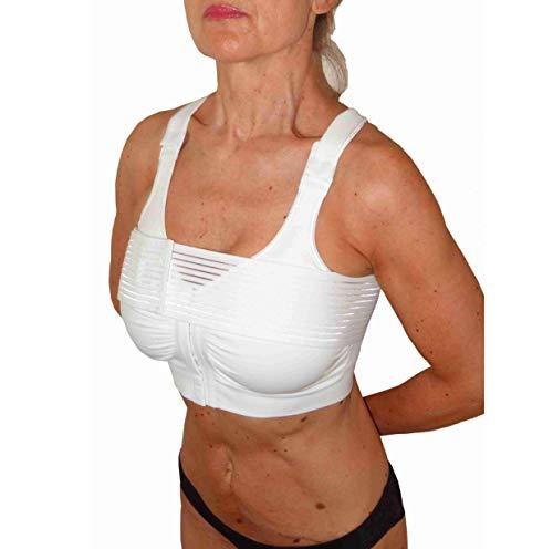 CzSalus Sujetador Especial Masto+ para el Uso médico-quirúrgica en el Post-operatorio+Banda estabilizadora (Blanco, L) 🔥
